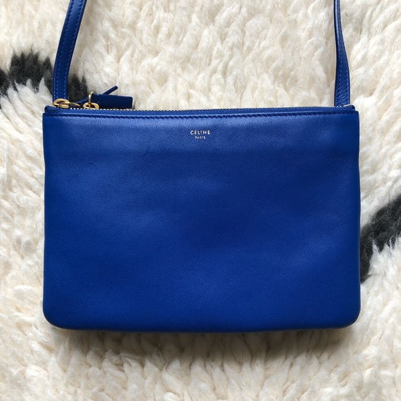 Celine Handbags - Céline Blue Lambskin Small Trio